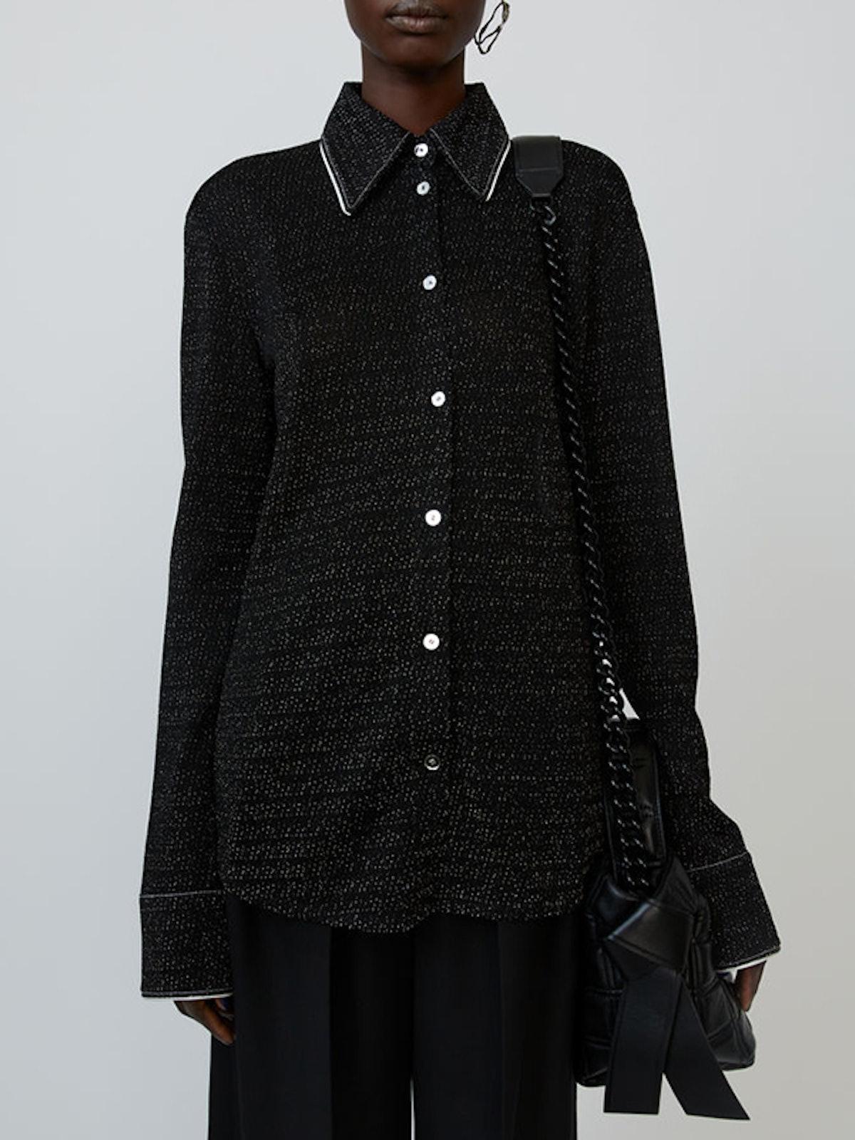 Lurex Shirt Black