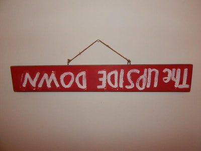 """Stranger Things """"The Upside Down"""" Hand Painted Wooden Sign"""