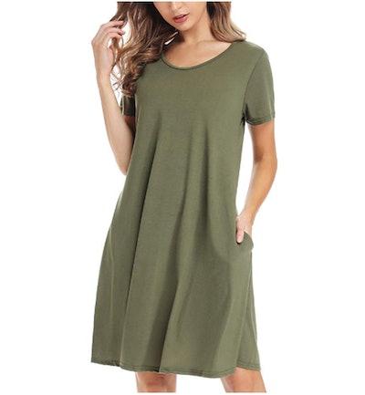 CakCton Women's Casual Shirtdress