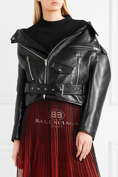 Swing Oversized Leather Biker Jacket