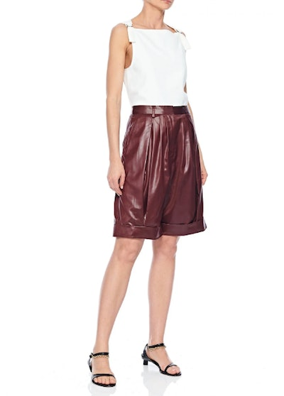 Liquid Drape Pleated Shorts