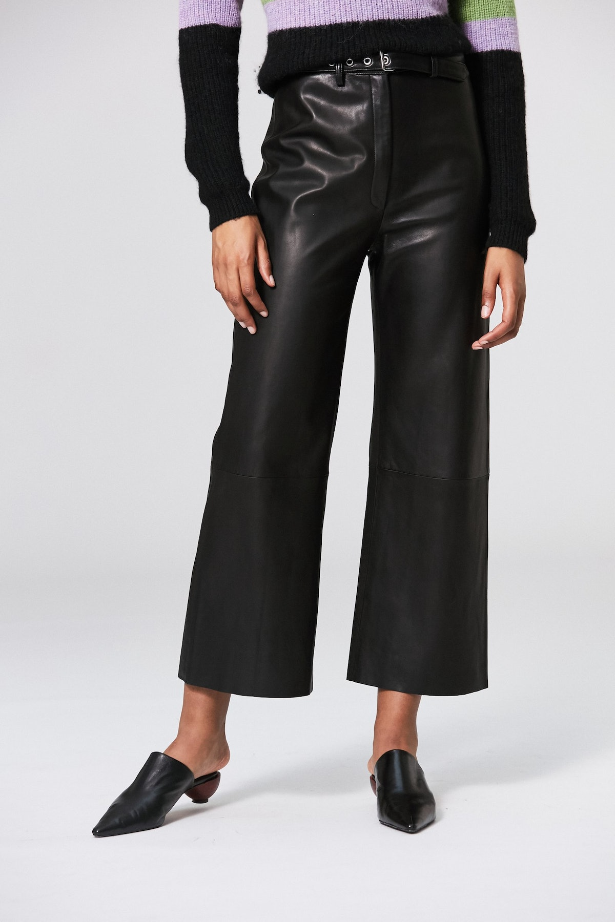 Vance Leather Trouser