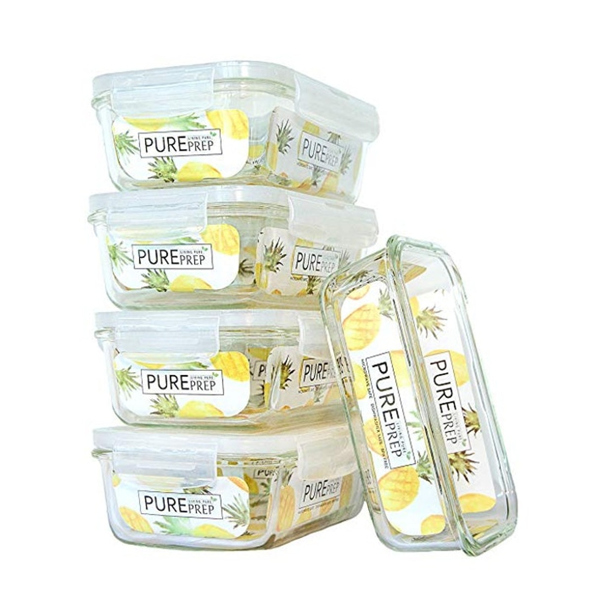 Living Pure LLC Glass Meal Prep Container (5-Pack)