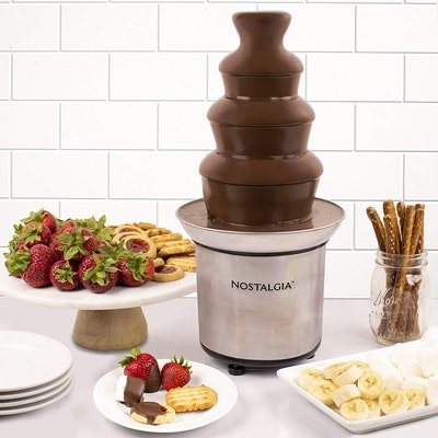 Nostalgia CFF986 4-Tier Stainless Steel Chocolate Fondue Fountain