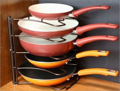DecoBros Kitchen Counter and Cabinet Pan Organizer