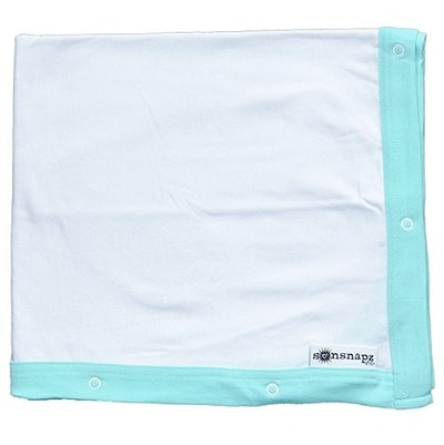 UPF 50+ Sun & Wind Protection Cotton Baby Blanket with Snaps