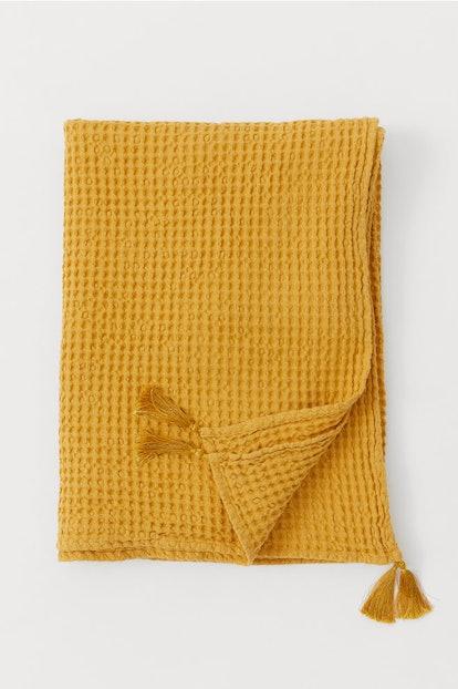 Waffled Cotton Throw
