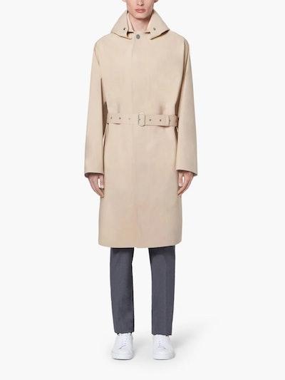 Jil Sander+ Beige Bonded Cotton Hooded Coat