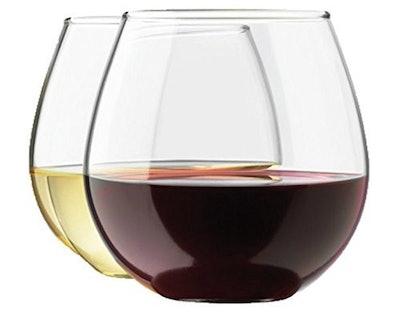 Zeppoli Stemless Wine Glasses (Set of 4)