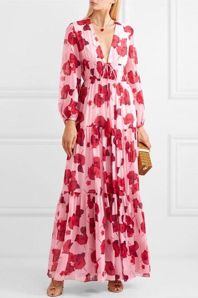 Freya Floral-Print Silk-Georgette Maxi Dress