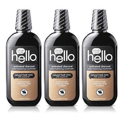 Hello Oral Care Activated Charcoal Mouthwash (3 Count)
