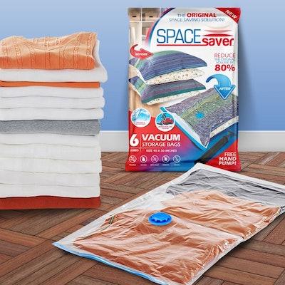SpaceSaver Premium Reusable Vacuum Storage Bags (6 Pack)