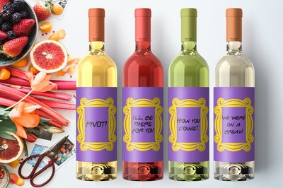 Friends Wine Labels