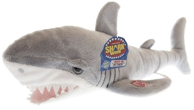 Discovery Shark Week Great White Shark 18-Inch Plush with Sound