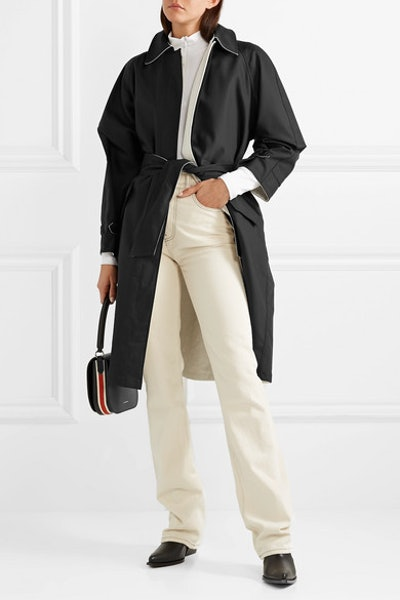 The Barbara Reversible Cotton-Blend Canvas And Silk-Crepe Trench Coat