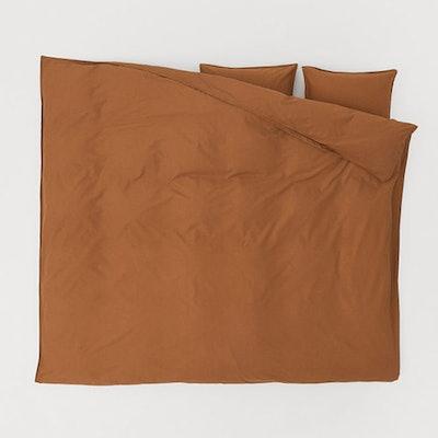 Washed Cotton Duvet Cover Set