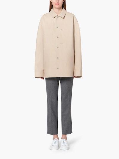 Jil Sander+ Beige Bonded Cotton Shirt Jacket