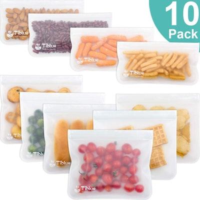 Tiblue Reusable Storage Bags (10 Piece Set)
