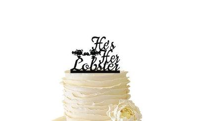Acrylic/Baltic Birch Cake Topper