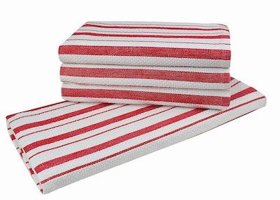 Cotton Craft Basketweave Kitchen Towels (4 Pack)