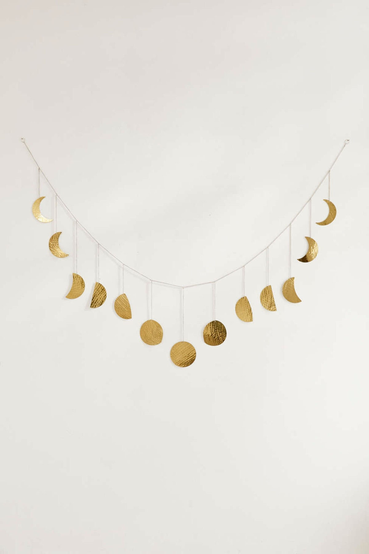 Hammered Extra-Long Metal Moon Cycle Banner