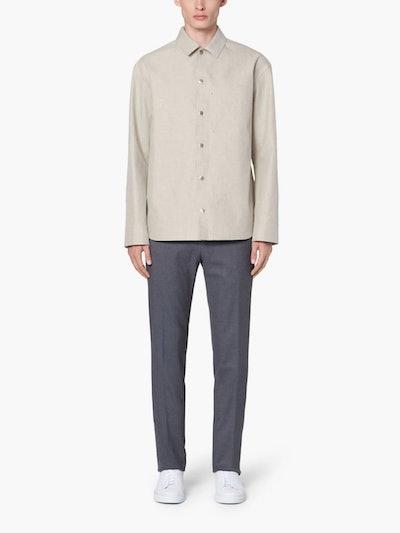 Jil Sander+ Grey Bonded Cotton Shirt Jacket