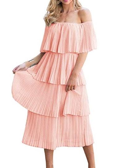 Ruffled Chiffon Summer Dress