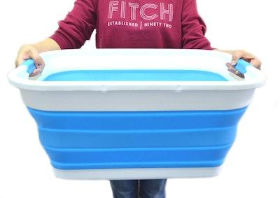 SAMMART Collapsible Plastic Tub