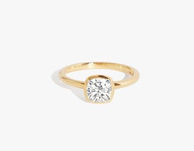 The Signature Bezel, Cushion Diamond