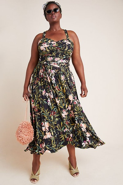 Gabriela Ruffled Maxi Dress Plus Size