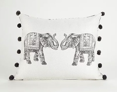 Elephant Pom Pom Cushion
