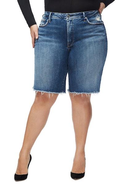 The Bermuda Distressed Jean Shorts
