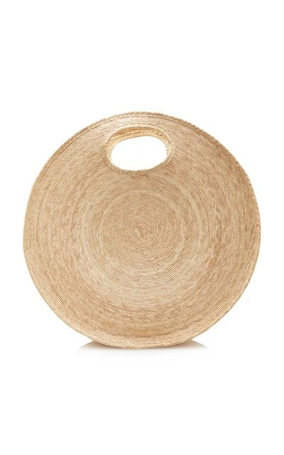 Straw Circle Tote