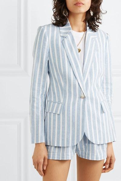 Scout Striped Linen and Cotton-Blend Blazer