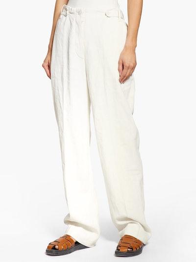 Matea High-Rise Canvas Trousers