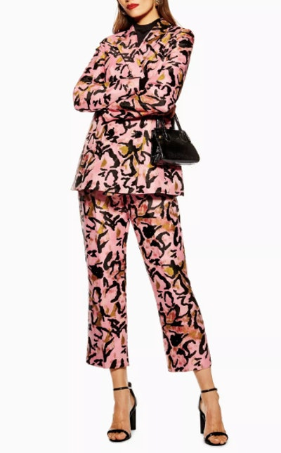 Animal Jacquard Trousers