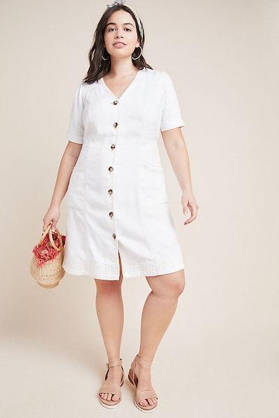 Pilcro Button Front Dress Plus Size