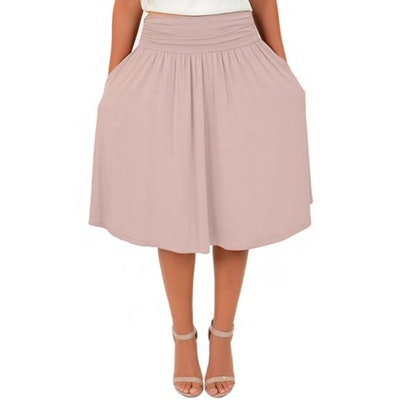 Stretch Is Comfort Mid-Length Pocket Skirt