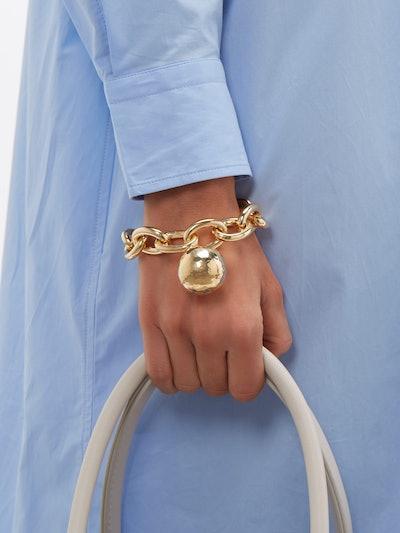 Ball Pendant Chain-Link Bracelet