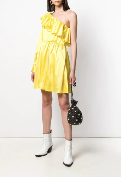 Asymmetric One-Sleeve Dress