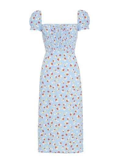 Jasmine Floral Print Castilo Midi Dress