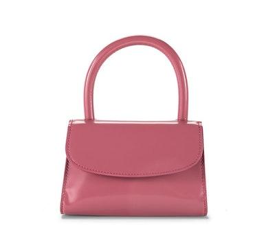 Pink Semi Patent Leather Mini Bag