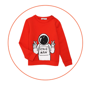 Space Man Graphic Sweatshirt
