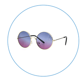 Tie Dye Gradient Metal Sunglasses