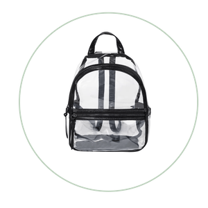 Clear Backpack With Black Trim