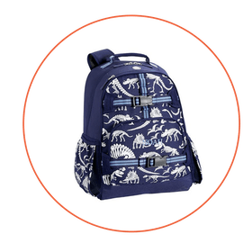 Mackenzie Blue/Gray Glow-In-The-Dark Dinos Backpack