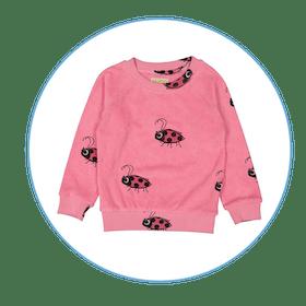 Pink Ladybug Sweatshirt