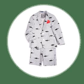 Mod Suit Shorts Set
