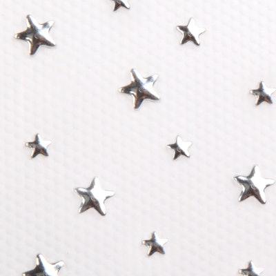 Silver Stars Hair Charms