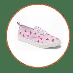 Printed Elastic-Lace Sneakers